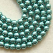 4mm Round Czech Glass Beads Saturated Metallic Island Paradise  - 100